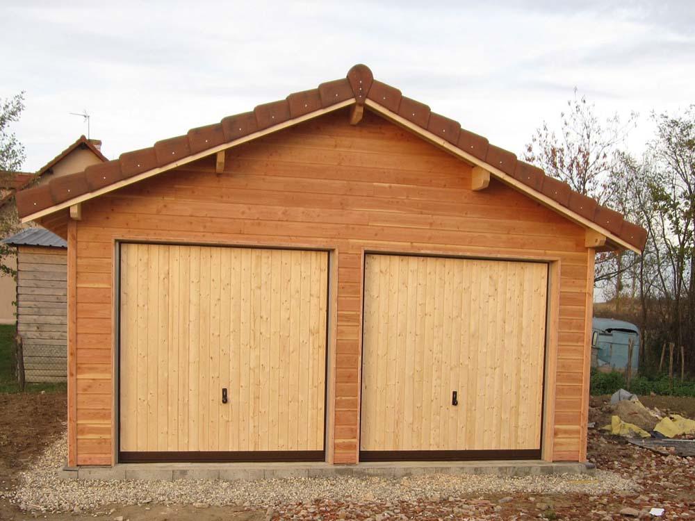 garage en ossature bois espace bois france. Black Bedroom Furniture Sets. Home Design Ideas