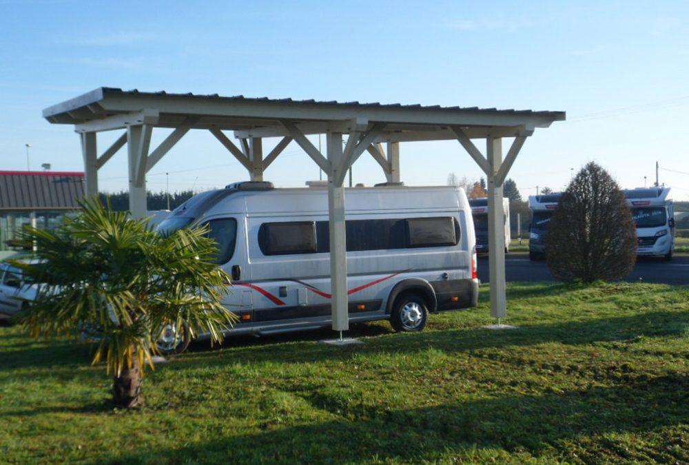 Installation d'un abri pour camping car à Saint Doulchard
